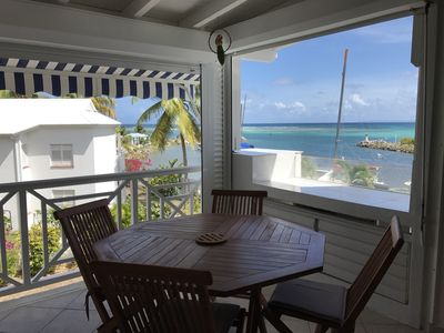 Photo for APARTMENT DUPLEX WITH SEA VIEW, The best situation in Saint-François !!!