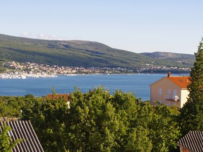 Photo for Apartment 45 m², sea view, island Krk, quiet location, terrace, air conditioning, wifi