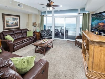 Photo for Ocean Blue Resort 602; Ocean Front, 4 bedroom 4 bath, Sleeps up to 10 ppl