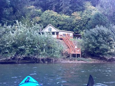 view of property from a kayak on Umpqua River