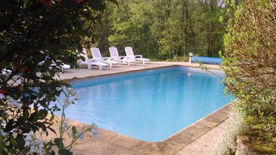 Photo for Chalet for 4 people, with swimming pool in full nature