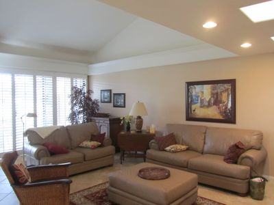 Living room with crown molding