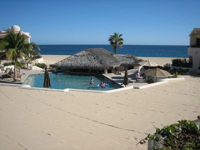 Only a few steps from the pool, Palapa restaurant and turtle crossing beach.