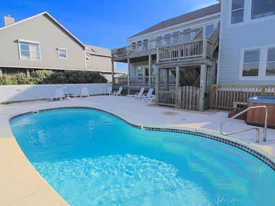 Photo for Sea Point Oceanfront Home in Nags Head. Private Pool, Hot Tub, Recreation Room & more!