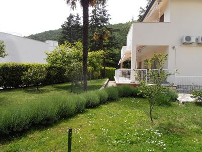 Photo for Two bedroom apartment with large terrace 150m from the beach