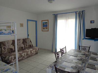 Photo for LARGE T2, 40m², Beachfront, central beach, WIFI, air conditioning