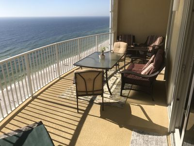 Photo for Extra large, private balcony with unobstructed views of the gulf!!!😎