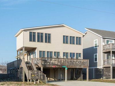 Photo for Sandy Paws: Semi-oceanfront, dog friendly with a private pool and hot tub, short walk to the beach.