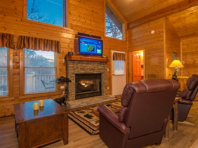 Photo for Mountain Views! 2 Master Suites-3 Decks-Small Dogs OK-Close to Parkway-Free WI