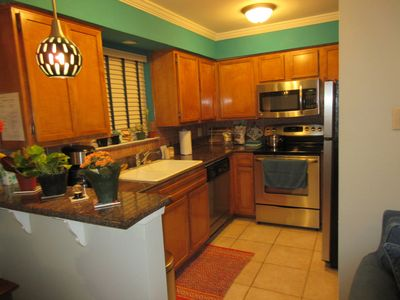 Refrigerator, Microwave Full Stove, Toaster, Coffee Maker and Free Coffee