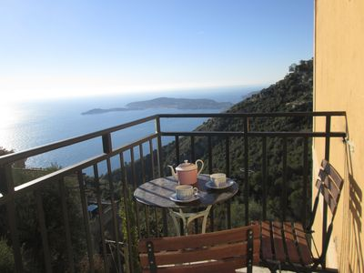 Photo for Eze, superb 5 rooms, extraordinary sight sea and village, balconies, sun.