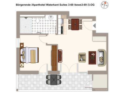 Photo for Bews3-69 Aparthotel Waterkant Suites 3-69 - Aparthotel Waterkant Suites 3-69