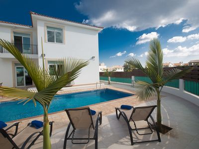 Photo for Villa Halle, Modern 3BDR Protaras Villa, Close to Fig Tree Bay Beach