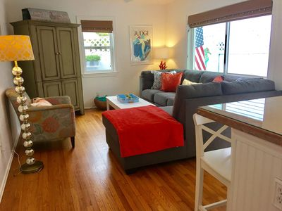 Photo for Adorable beach cottage in the heart of Ocean Beach 2 blocks from beach and pier