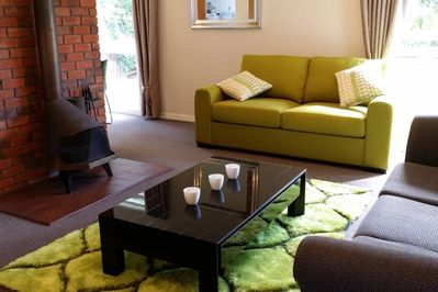 lounge has open fire andamp; f/out sofa for extra d/bed