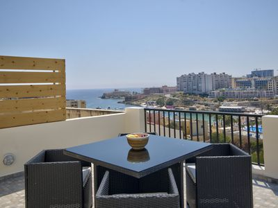 Photo for Seaviews, Duplex, St Julian's Hill Penthouse