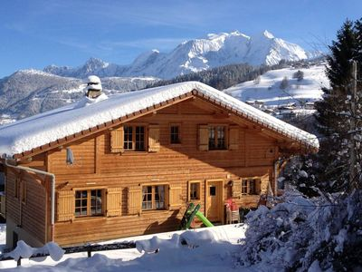Photo for Beautiful chalet facing Mont Blanc in Combloux/Megève