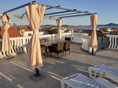 Photo for One bedroom apartment with terrace and sea view Vodice (A-13973-c)
