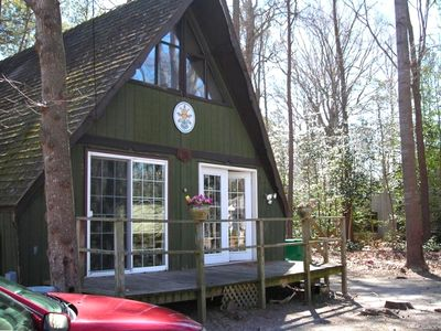 Photo for A-Frame Chalet, Waterfront Community, Minutes from Beach