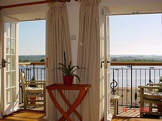 View of estuary from lounge