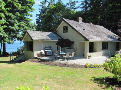 Photo for Tunnel Hill - Oceanfront Estate - Central Qualicum - Private Beach - Kayaks