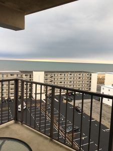 Photo for Top floor end unit, Beautiful Ocean View, Pool, Elevator, steps to the beach!