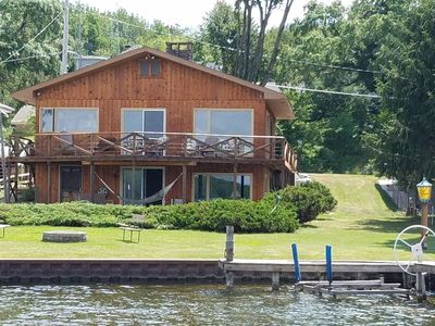 Photo for Family Friendly - Beautiful Hamlin Lake Cottage with Boat Dock