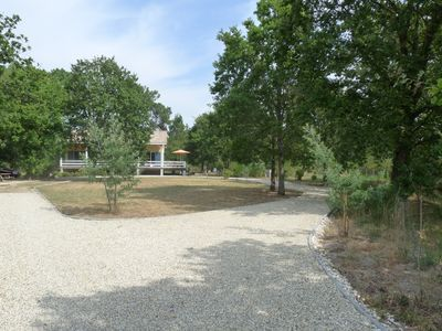 a roundabout on the property