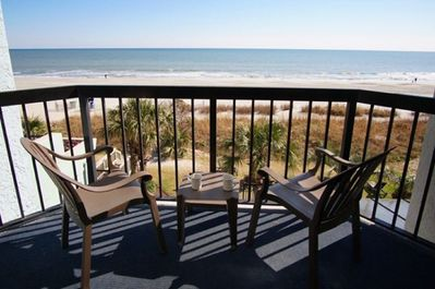 Your private balcony will quickly become a favorite place at the Compass Cove.