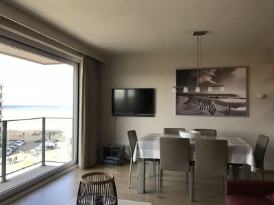 Photo for Koksijde, modern apartment for 6 people with sea view