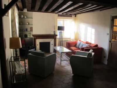 Photo for Apartment of 100 m² at the foot of the Castle in the heart of town with garage.