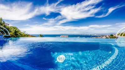 Photo for Breathtaking Views of Vallarta, Fully Staffed, Infinity Pool, Jacuzzi, Walk to Beach, Free WIFI