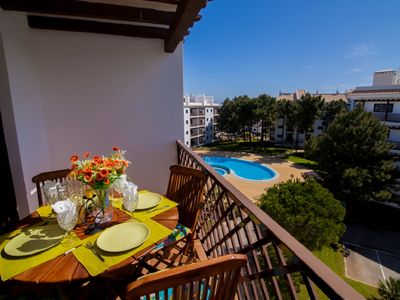 Photo for Falesia Beach 2 bedroom Apartment pool view (1)
