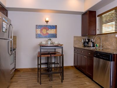 Photo for Two bedroom, two bathroom condo with gas fireplace, sofa sleeper and fully equipped kitchen.