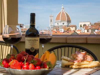 Photo for lovely flat in Florence city center with terrace and Duomo view