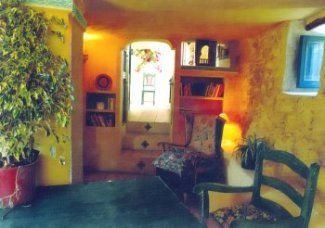 The interior of the cottage