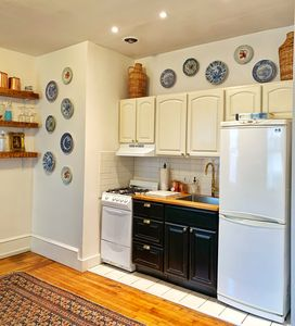 Kitchen with all the basics for cooking