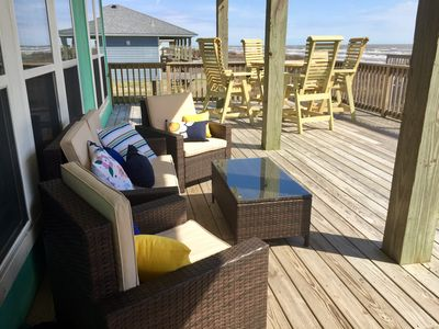 Cozy; peaceful—Beach Blessing—70 feet from beach with large patio, great views