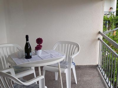Photo for Studio flat with terrace and sea view Podaca, Makarska (AS-6745-d)
