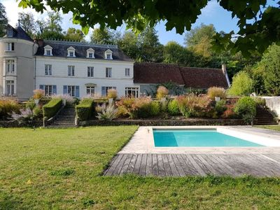 Photo for Cottage with park and swimming pool in the heart of the castles of the Loire, near Chenonceau