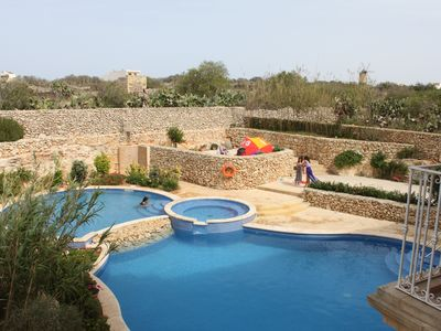 Photo for Large & modern 3 bedroom family apartment with shared pool in Qala, Gozo (Malta)