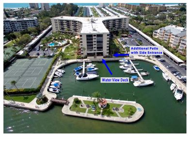Its floor corner unit - 5 feet from the water-you have beautiful views+car acces