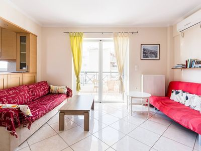 Photo for Sunny and modern family apt in the center of Athens,2 b/d,wifi,parking