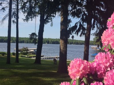 Photo for Spacious 3 bedroom, 2 Bath home will frontage on Hamlin Lake and boat dock!