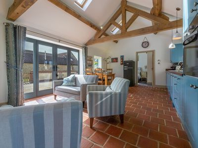 Photo for A lovely spot for a romantic break or family holiday with open countryside views