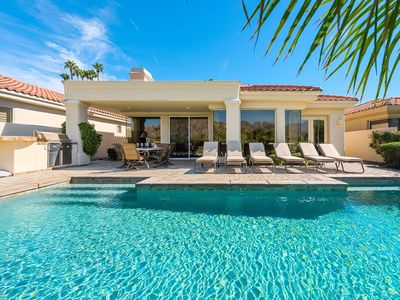 Photo for PGA West Golf Luxury Home with Mountain View, Spacious Private Pool, 3 King Beds
