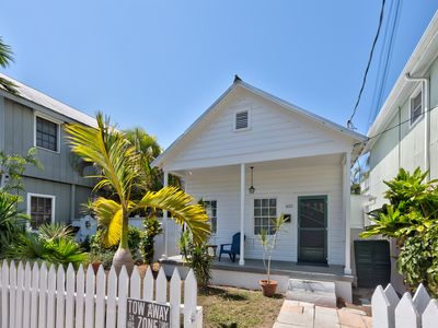Photo for Dog-friendly getaway w/ furnished patio & shared pool - blocks from the beach