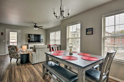 Unwind in 1,242 square feet of pristine living space after daily activities!