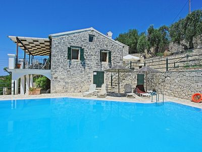 Photo for Family Paxos villa with private pool and stunning views