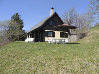 "Photo for Spacious chalet (8p, 150m2) ""La Fage"" in full nature at the foot of the Sanc massif"